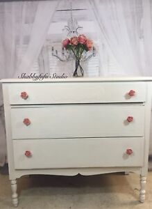 Refinished Clay Painted Vintage Dresser