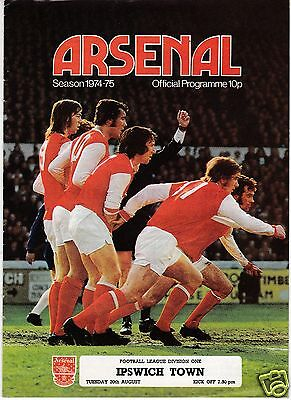 ARSENAL V IPSWICH TOWN  1ST DIVISION    20/8/74