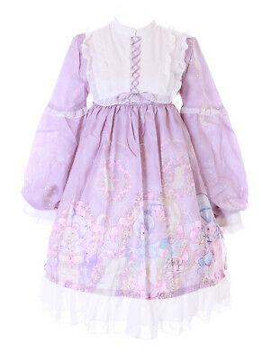 JSK-71-2 Púrpura Orquesta Mago Oso Conejo Luna Vestido Pastel Goth Lolita