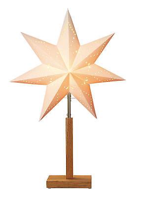pierstern Karo Weihnachtsstern 55x34cm Tischlampe Lampe (Karo-papier)