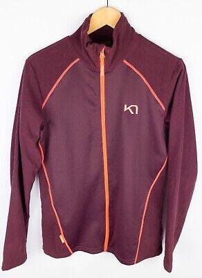 Kari Traa Women Fleece Jacket Outdoor Leisure Active Burgundy Red size L UK14