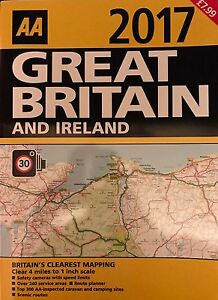 AA GREAT BRITAIN AND IRELAND ATLAS/ ROAD MAP 2017 BRAND NEW LATEST EDITION *SALE