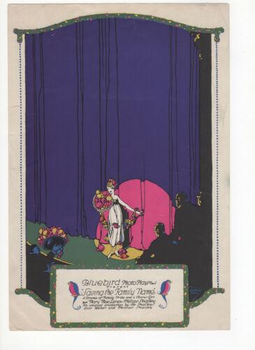SAVING THE FAMILY NAME - Rare 1916 LOIS WEBER FILM Silent Movie COLOR TRADE AD