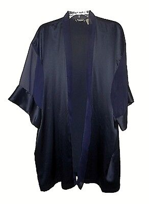 Robe cover-up, Victoria's Secret, vintage Satin Sheer-sleeves short 1-size