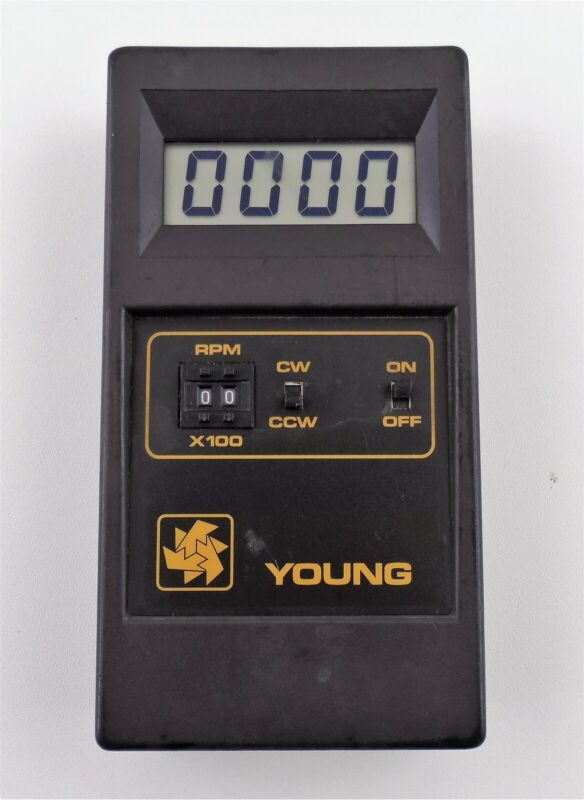 Young Model 18801 Selectable Speed Calibrating Unit with Drive Assembly Used