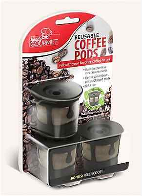 3X Reusable Coffee Pods Handy Gourmet Stainless Steel Mesh Filter Non BPA Kcup (Kcup Filter)