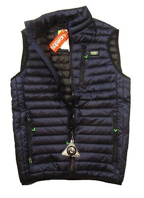 Superdry Men's Navy Core Down Puffer Full Zip Vest