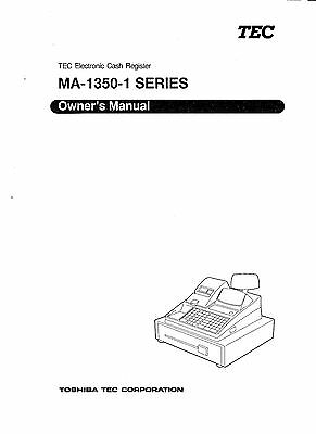 Tec 1350 Cash Register Manual Includes Programming Section Operator Section