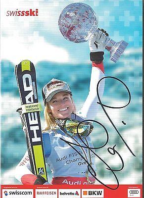 Autogramm Lara Gut Ski alpine Schweiz Bronze Olympia Sotschi Schauspielerin KUGE