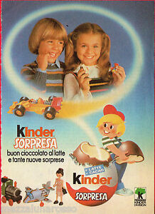 Pubblicita-Advertising-KINDER-SORPRESA-1984
