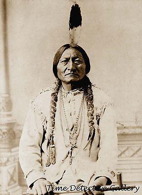 Teton Sioux Sitting Bull Portrait - 1885 - Historic Photo Print