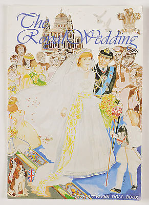 Princess Diana The Royal Wedding Paper Doll Cut Out Book 1981 England Uncut