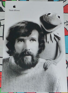 APPLE THINK DIFFERENT ORIGINAL POSTER JIM HENSON AND KERMIT APPROX. 17X11