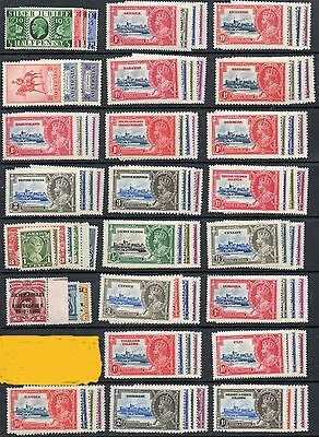1935 Silver Jubilee Omnibus set 250 MNH unmounted mint stamps includes Egypt 1p