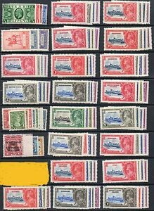 1935 Silver Jubilee Omnibus set 249 MLH mint stamps no Egypt 1p seal  PRICE DROP