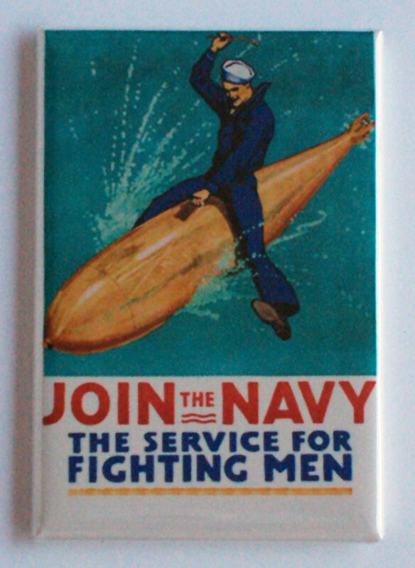 "U.S. NAVY ""Join the Navy"" FRIDGE MAGNET recruiting poster"