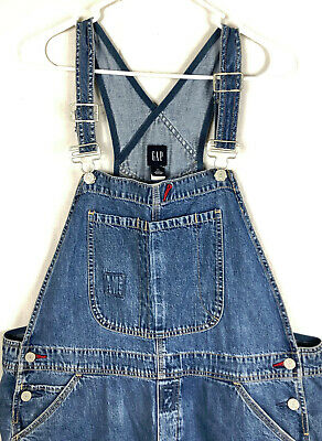 "Vintage TRUE 90s GAP Dungarees Denim Jean Overalls Sz  XL Baggy 30"" Insem Women"