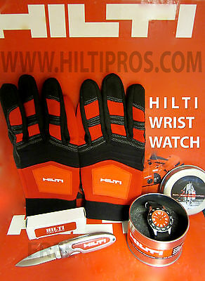 Hilti Dial Stainless Steel Watch Brand New Free Hilti Knife Fast Shipping