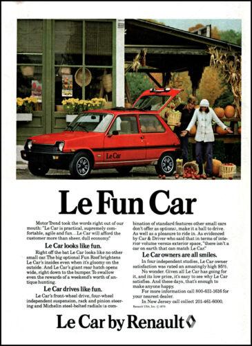 1979 Autumn Harvest Market Le Car Renault Le Fun Car vintage photo print ad  S2