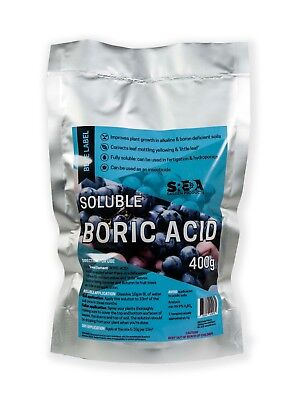Boric Acid High Purity 400g SREDA Fully Soluble Hydroponics Pest Control
