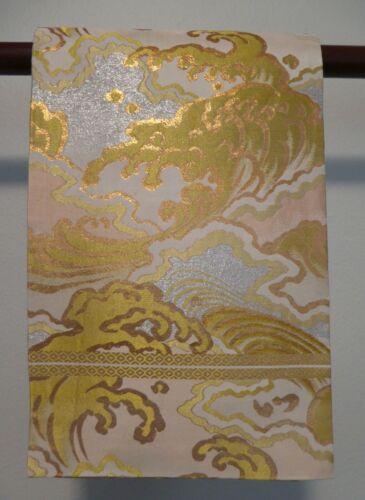 #76 Japanese Maru Obi,  Waves