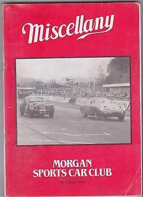 MISCELLANY MORGAN SPORTS CAR CLUB MAGAZINE MARCH 1994 POST FREE