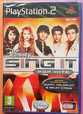 DISNEY SING IT POP HITS PS2 SOLUS GAME new & SONY sealed...