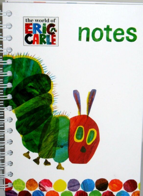 ERIC CARLE NOTES, JOURNAL, NEW HARDCOVER WIREO ,LINED PAPER FREE SHIPPING! RARE