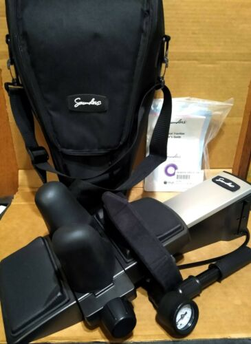 SAUNDERS PORTABLE CERVICAL TRACTION DEVICE + CASE - EXCELLENT CONDITION EMPI DJO