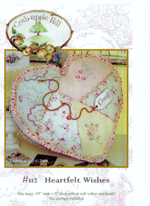 Crab-apple Hill Studio Heartfelt Wishes  Embroidery Pattern #112 Used
