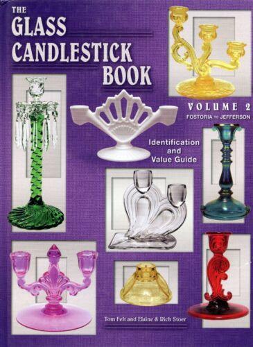 Vintage Elegant Glass Candlesticks incl. Toy Candle Sticks / Book + Values