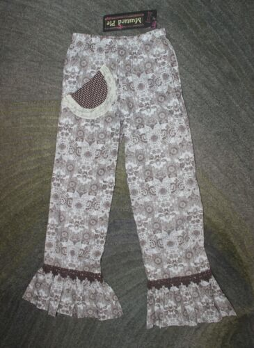 Mustard Pie Girls Brown Paisley Kashmir Pant Leggings - Size 10 - NWT