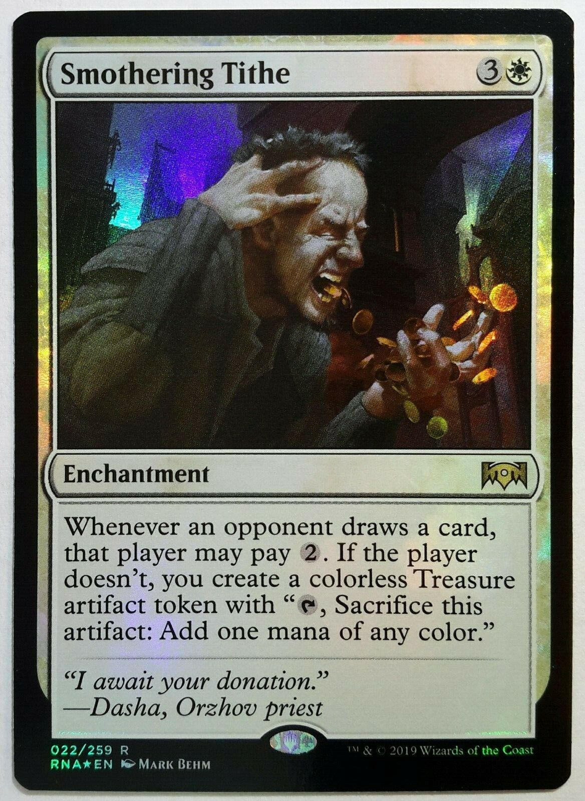 1 X Smothering Tithe White Enchantment New Ravnica Allegiance Mtg Rare Collectible Card Games Toys Hobbies For most magic software, including magic workstation and cockatrice: experts kg