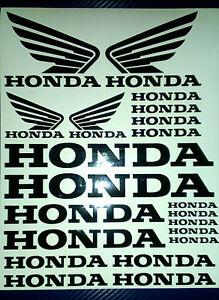 Honda and  Honda Wings Tank Helmet Motorcycle Van Car Vinyl Decals Stickers set