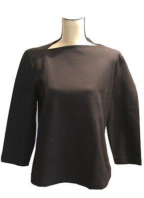 NWT Kate Spade Saturday Black Slip Neck Knit Top Size XL