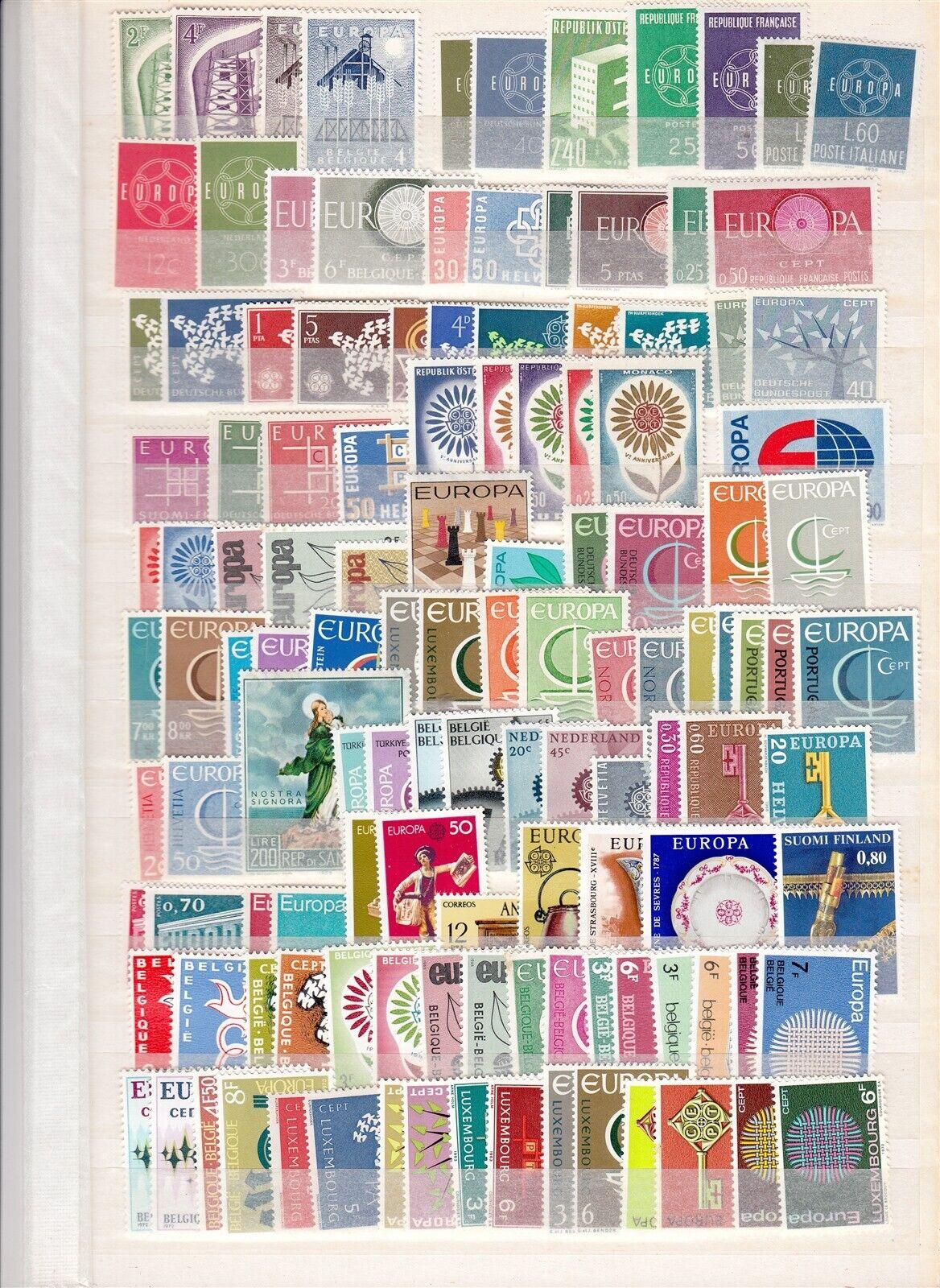 EUROPA CEPT strong collection MNH 1960-1980s (CV $500 EUR432)