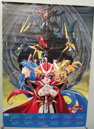 MAGIC KNIGHT RAYEARTH - A1 size Poster Rare CLAMP Style 01 1996 calender