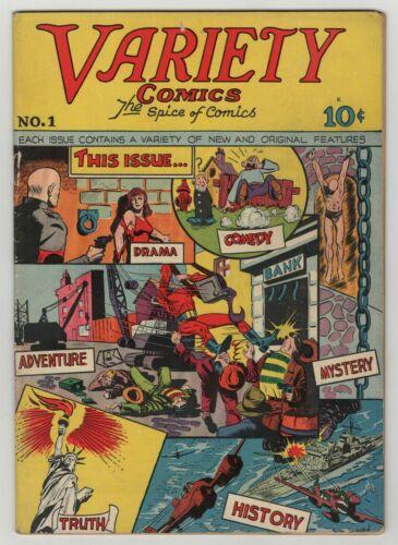 Variety Comics (1944) #1 Rural Home Captain Valiant WWII Bondage Cover VG/FN