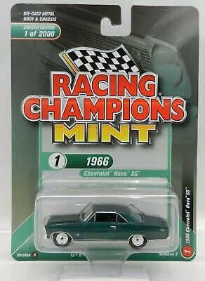 Racing Champions Green (2019 RC 1:64  RACING CHAMPIONS MINT 3B = Green 1966 Chevrolet NOVA SS)