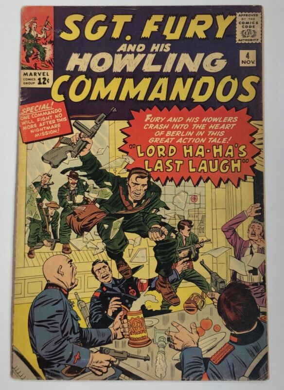SGT. FURY & HIS HOWLING COMMANDOS  # 4   VG+