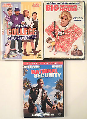 3 DVD Lot Set Martin Lawrence National Security Mommas House 2 College Road Trip