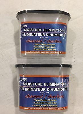 2 Charcoal Moisture Eliminator Absorbant  Black Trim Self Contain Traps Odors (Dehumidifier Moisture Elimination)
