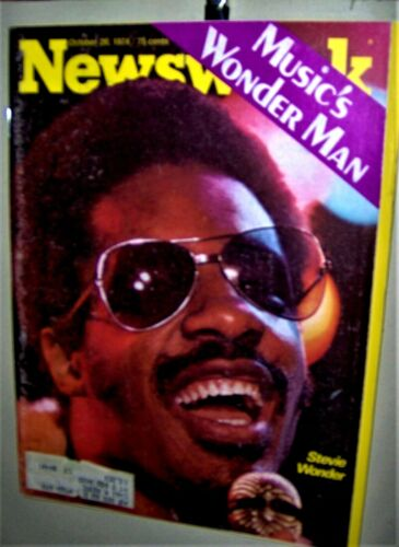 STEVIE WONDER NEWSWEEK Magazine October 1974 Charles Manson Angela Davis COOL