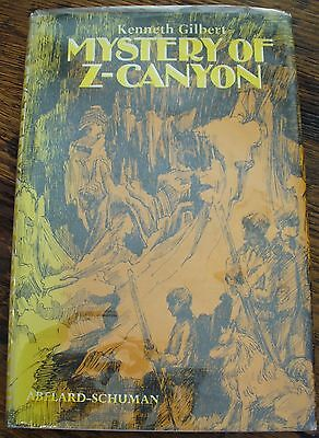 Mystery of Z-Canyon 1969 Kenneth Gilbert Signed Boy's Adventure Free US Shipping