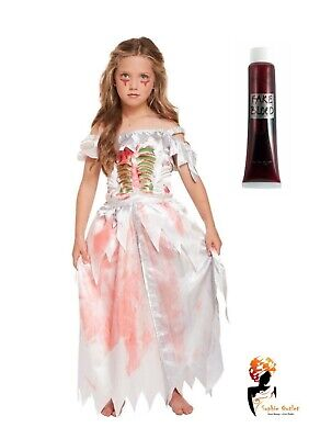 Scary Fairy Costumes (GIRLS ZOMBIE PRINCESS Scary Beauty Fairy tale Halloween Fancy Dress COSTUME)