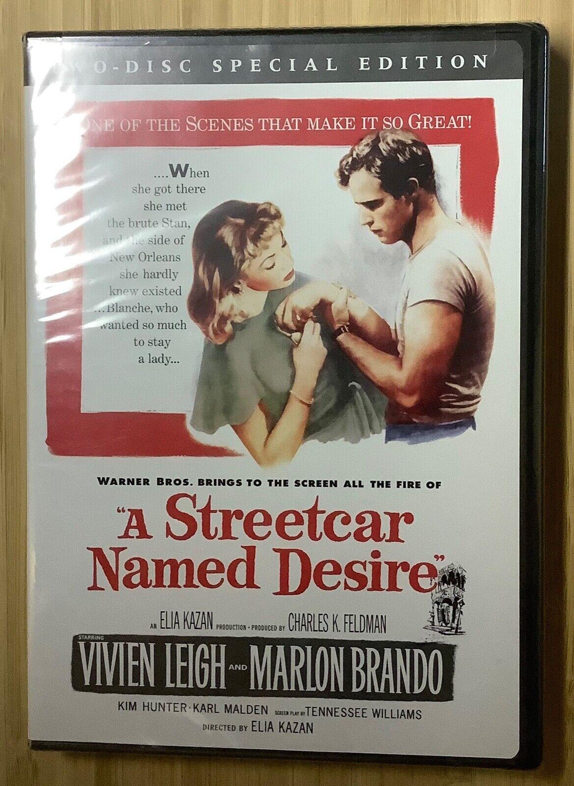 A Streetcar Named Desire 1951 DVD 2-disc Marlon Brando Vivien Leigh NEW SEALED - $15.00
