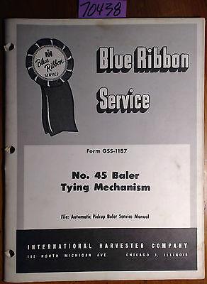 Ih International Harvester No. 45 Baler Tying Mechanism Service Manual Gss-1187