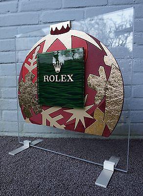 ROLEX dealer DEALERDISPLAY leather WAVES 100% authentic wave DISPLAY roldeco #2