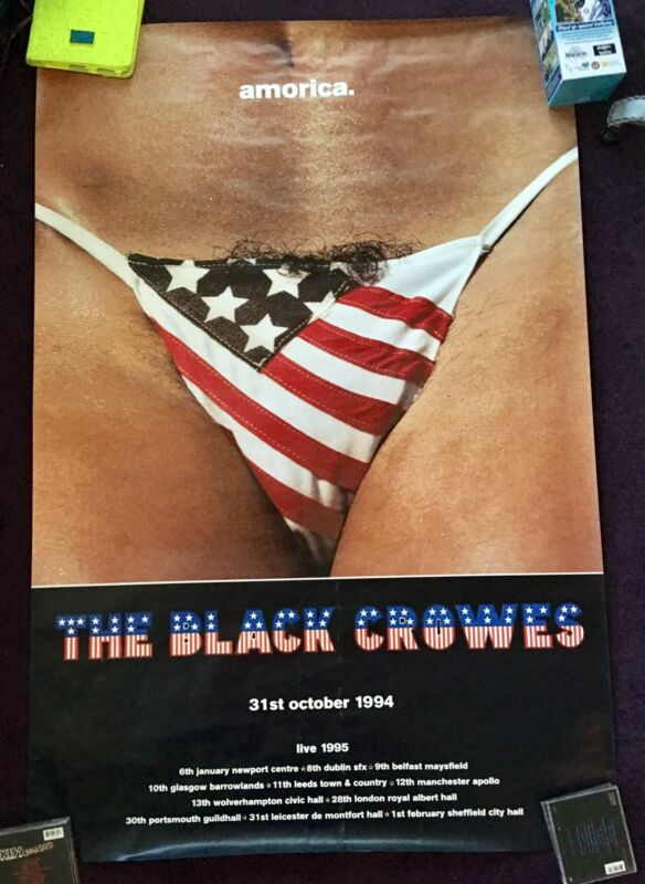 Black Crowes - Amorica 1994 LP / CD Promo Poster Chris Robinson Hustler Magazine