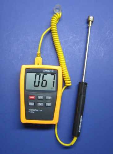Digital K-type Thermometer w. Surface Thermocouple Welding and Metalworking SF-2